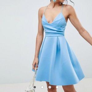 ASOS Design blue scuba mini dress